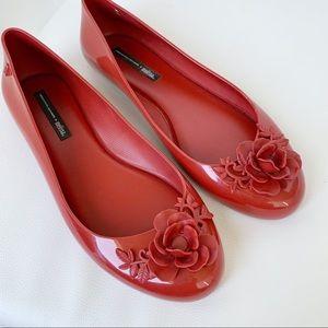 Melissa + Alexandre Herchcovitch red jellies flats